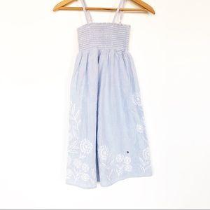 Tommy Hilfiger blue/white striped smocked dress6
